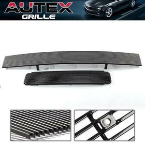 Billet Grille Grill Combo Inserts For 04 07 Nissan Titan Armada Upper Lower