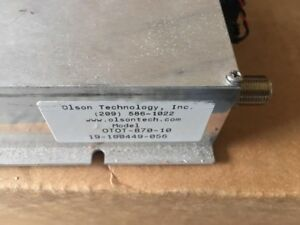 used Olson Technology Fiber Optic Transmitter Otot 870 10 1310nm