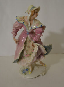 Antique Art Deco Karl Ens Germany Porcelain Dancing Lady Figurine