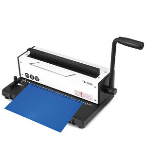 New All Steel Metal Wire Coil 34holes Punching Binding Machine Binder Puncher