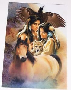 Indian Family Horse Eagle Wolf Graphic Decal Decals Sticker Rv Camper Motorhome