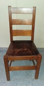 Stickley Brothers Quiant Mission Side Chair With Metal Tag
