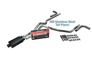 Chevy Gmc 1500 15 18 2 5 Stainless Dual Exhaust Kit Flowmaster Super 44 Side