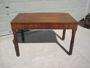 English George Iii Mahogany Library Table Or Writing Desk Stunning Unique