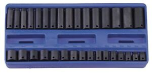 Genius Tools 32pc 3 8 Dr Metric Deep Impact Socket Set Tf 332m