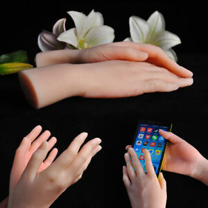 1pc Left Or Right Lifelike Female Hand Finger Model Nail Jewelry Displays Props
