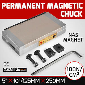 5 X 10 Fine Pole Permanent Magnetic Chuck N45 Magnet Material Neodymium Forging