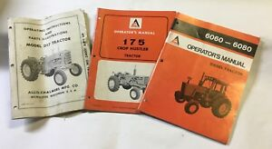 Allis Chalmers Manuals choice Of 1 D17 Or 175 Crop Hustler Or 6060 6080