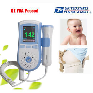 Lcd Pocket Prenatal Fetal Doppler Baby Heart Beat Monitor Pregnancy 3mhz Gel