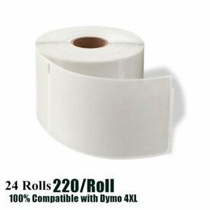 24 Rolls 220 roll Direct Thermal Labels 4x6 1744907 Compatible Dymo 4xl Printer