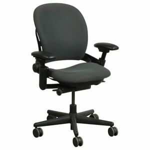 Steelcase Leap V1 Chair open Box Fully Loaded Black Fabric