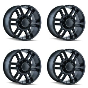 Set 4 17 Ion 179 Black Wheels 17x8 6x5 5 10mm Chevy Tahoe Gmc Cadillac 6 Lug