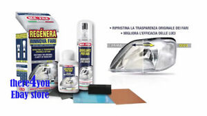 Crystal Clear Headlight Restore Headlamp Lens Cleaning Kit Plastic Lamp Faded