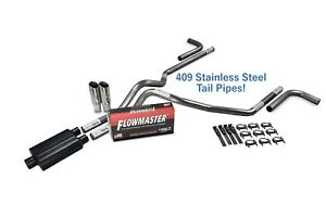 Dodge Ram 1500 09 18 2 5 Stainless Dual Exhaust Kit Flowmaster 40 Clamp Side