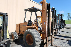 Case 586e 6 000 Rough Terrain Forklift 4x4 Drive Three Stage Sideshift