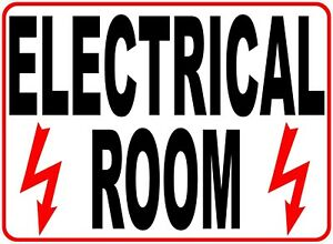 Electrical Room Sign Size Options Power Electric Door Rooms