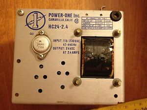 2 Used Power one Power Supplies Hc24 2 4 And International Ser Hb28 1 a