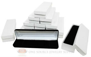 12 Piece Bracelet Black Velvet Metal Jewelry Display Boxes 8 w X 2 d X 1 1 8 h