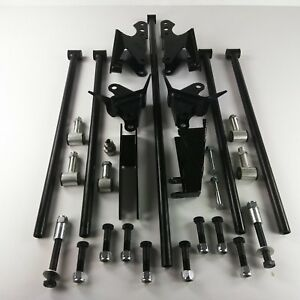 Stainless Steel Hd Parallel Full Size Universal 4 Link Kit W Shock Hardware
