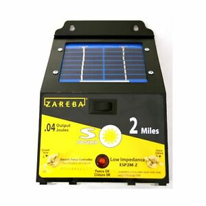 Zareba Energizeresp2m z 2 mile Solar Powered Electric Fence Charger
