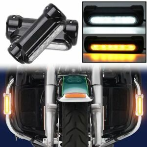 Motorcycle Highway Bar Switchback Daytime Running Lights Turn Signal For Victory