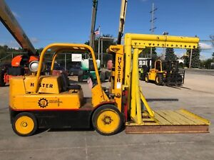 Hyster S150a 15 000 Lbs Capacity Forklift With Machinery Boom