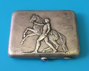 Beautiful Russian 875 Silver Cigarette Case