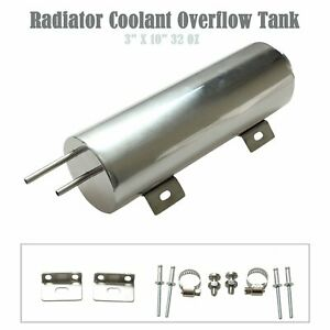 3 X 10 32 Oz Stainless Steel Polished Radiator Overflow Tank Bottle Catch Can