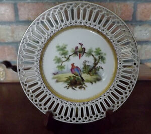 An Exceptional And Gorgeous 1776 Vieux Sevres Reticulated Plate From France