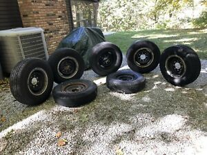6 Original 15 Split Rims Off A 1949 Chevrolet 3600 Pickup Truck 5 W Tires
