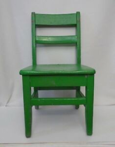 Vintage Children S Solid Oak Wood School Chair