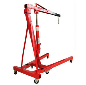 2 Ton Folding Manual Hydraulic Engine Crane Shop Press Hoist Lift