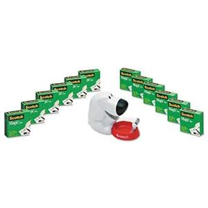Mmm810k12c31dog Scotch Magic Tape Dog Dispenser Value Pack
