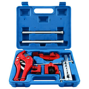 9pcs Brake Flare Tool Standard Brake Line Flaring Tool Set With Tubing Cutter