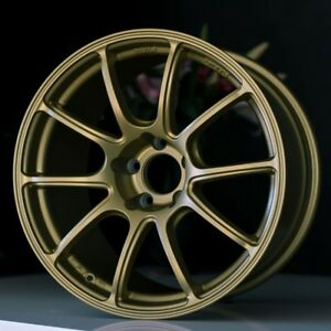 Set Of 4 Bavar Lightweight Track Wheels Bv02 18x8 5 18x9 5 5x114 3 Matte Gold