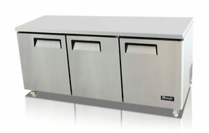 New 3 Door Undercounter And Work Top Commercial Refrigerator Model C 72r