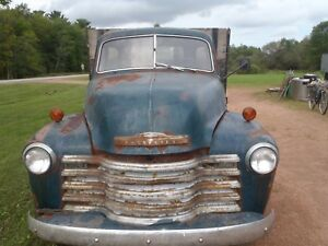 Rare 1949 Chevrolet Truck For Fixing Or For Parts antique Truck
