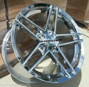 Chrome C6 Z06 Style Corvette Wheels Fits 1988 1996 C4 Corvette 17x9 5 Camaro