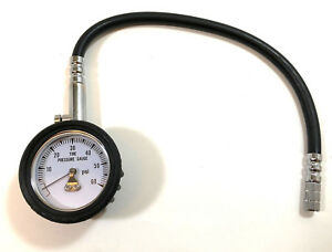 0 60 Psi Tire Pressure Gauge Air Pressure Gauge With Bleeder Valve 2 Face
