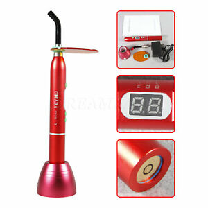Dental 10w Cordless Wireless Led Curing Light Cure Lamp 1800mw 3 Mode Red F3ca