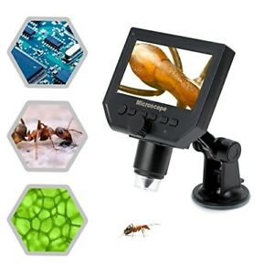 Koolertron 4 3 Lcd Digital Usb Microscope Magnifier With 1 600x Continuous Magn