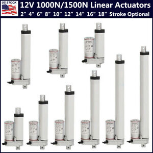 Heavy Duty 1000n 1500n Electric Linear Actuator 220 330lbs Max Lift 12v Dc Motor