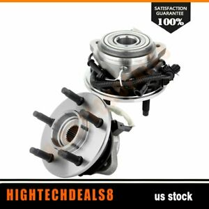 Pair 2 Front Wheel Hub And Bearing Assembly For Ford Explorer 4wd 4x4 Awd W Abs