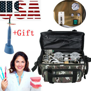 Portable Dentistry Dental Unit With Air Compressor Suction System 3 Way gift Usa