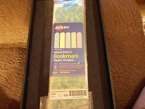 Avery 24909 Tabbed Snap In Bookmark Plastic Dividers 5 Tabs 12 Packs Total
