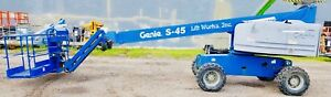 2006 Genie S 45 Telescoping Boom Man Lift Diesel Aerial 45 Platform 51 Working