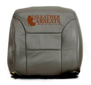 95 99 Chevy Silverado Suburban Tahoe Driver Lean Back Leather Seat Cover Gray