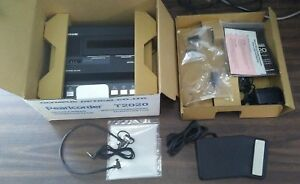 Olympus Pearlcorder Desktop Model T2020 Micro Mini Transcriber Recorder In Box