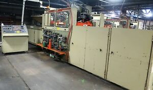 Brown Model Sr 3036 In Line Thermoforming Plastic Packing Machine