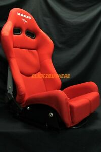 Bride Gias V1 Low Max Red Plain Cloth Single Reclining Racing Seat W Slider